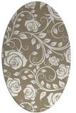 rug #389557 | oval mid-brown rug
