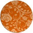 rug #390381 | round red-orange rug