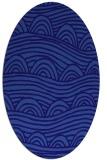 rug #398321   oval blue-violet rug