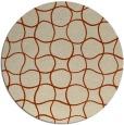 rug #400879   round check rug