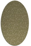 rug #402061 | oval light-green rug