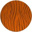 rug #407985 | round red-orange rug