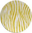 rug #408021 | round yellow rug