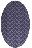 rug #410625 | oval blue-violet rug