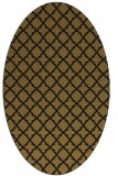 rug #410653 | oval mid-brown rug