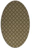 rug #410657 | oval brown rug