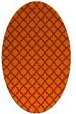 rug #410781 | oval orange rug