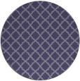 rug #411329 | round blue-violet rug