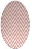 rug #416037 | oval pink rug