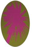 rug #417905 | oval light-green rug