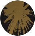 rug #418397 | round black abstract rug