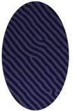 rug #419421 | oval blue-violet rug
