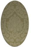 rug #421421 | oval light-green rug