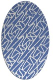 rug #424657   oval blue rug