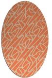 rug #424813 | oval orange rug