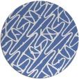 rug #425361 | round blue rug