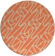 rug #425517 | round orange rug