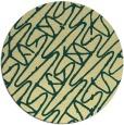 rug #425525 | round yellow rug