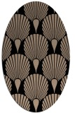rug #426389 | oval black rug
