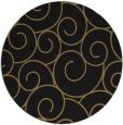 rug #428861 | round black rug