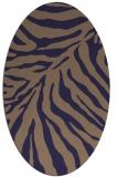 rug #433525 | oval blue-violet rug
