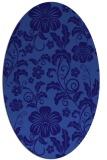 rug #438801 | oval blue-violet rug