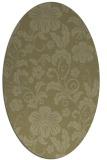 rug #439021 | oval light-green rug
