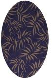 rug #444085   oval blue-violet rug