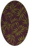 rug #444205 | oval purple rug