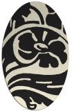 rug #447805 | oval black rug