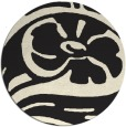 rug #448509 | round black abstract rug