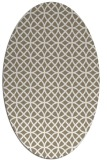rug #456437 | oval mid-brown rug