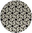 rug #462589 | round black rug