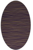 rug #463569 | oval mid-brown rug