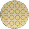 rug #466089 | round yellow rug