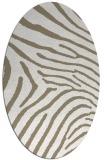 rug #472277 | oval mid-brown rug