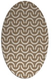 rug #477569 | oval mid-brown rug