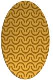 rug #477721 | oval light-orange rug