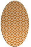 rug #477733 | oval orange rug