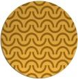 rug #478425 | round yellow rug
