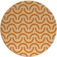 rug #478437 | round orange rug