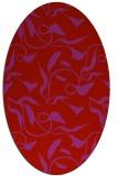 rug #479429 | oval red rug