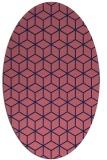 rug #482789   oval blue-violet rug
