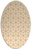 rug #483045 | oval light-orange rug
