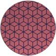 rug #483493 | round blue-violet rug