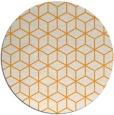 rug #483749 | round light-orange rug