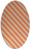 rug #488173 | oval orange rug