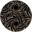 rug #492213 | round black abstract rug