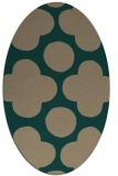 rug #496899 | oval circles rug