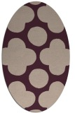 rug #496934 | oval graphic rug